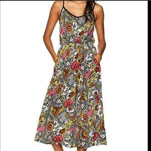 Derek Heart Floral Print Boho Chic Flared Jumpsuit